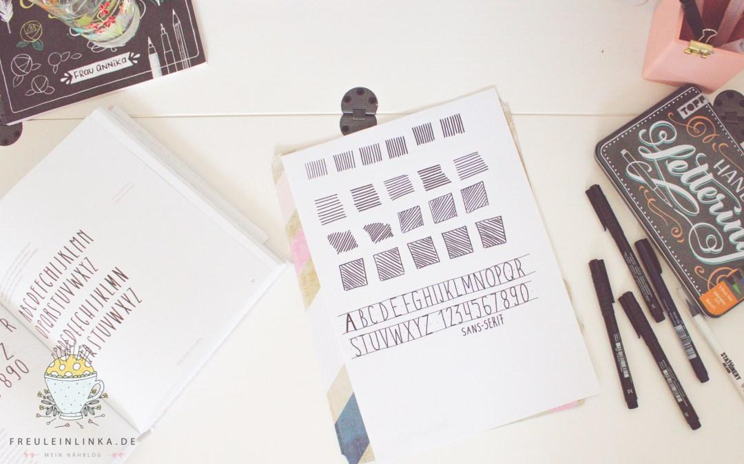 DIY Handlettering die ersten Aufwärmübungen zur Schrift Sans Serif freuleinlinka.de