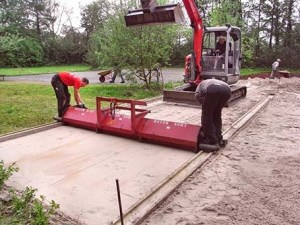 Bau-Eisstockschießbahn-Brake