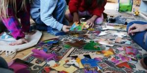 Flüchtlingskinder spielen