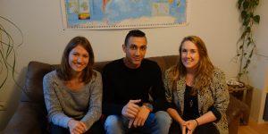 Aus Mitbewohnern wurden Freunde. Die WG mit Amelie, Omar und Johanna (v.l.)