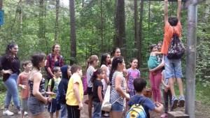 Der Ausflug in den Hauptsmoorwald war ein echtes Highlight: Am Trimm-Dich-Pfad konnten sich die Kinder austoben.
