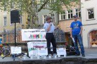 Freund statt fremd organisierte die Mahnwache am 30. April zum Thema Kriminalität