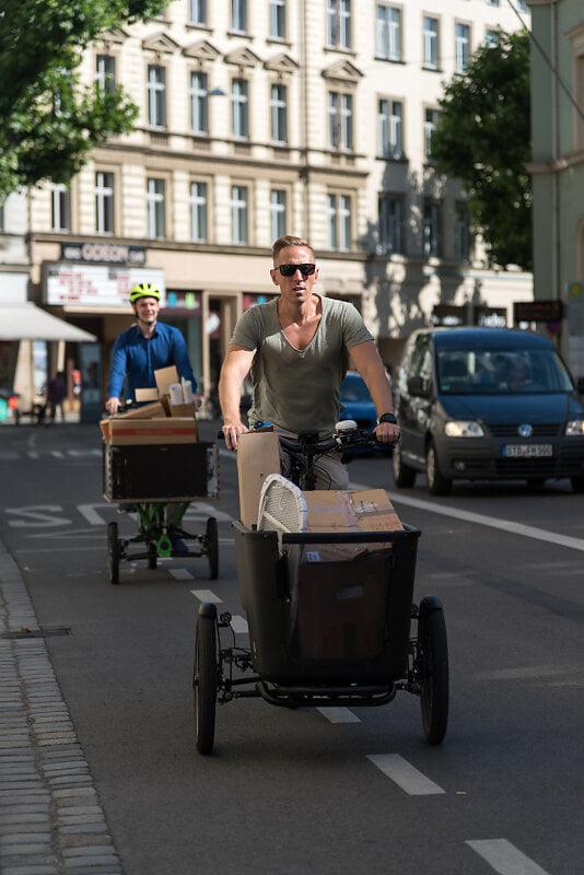 Umzug mal anders: Lastenräder statt Transporter