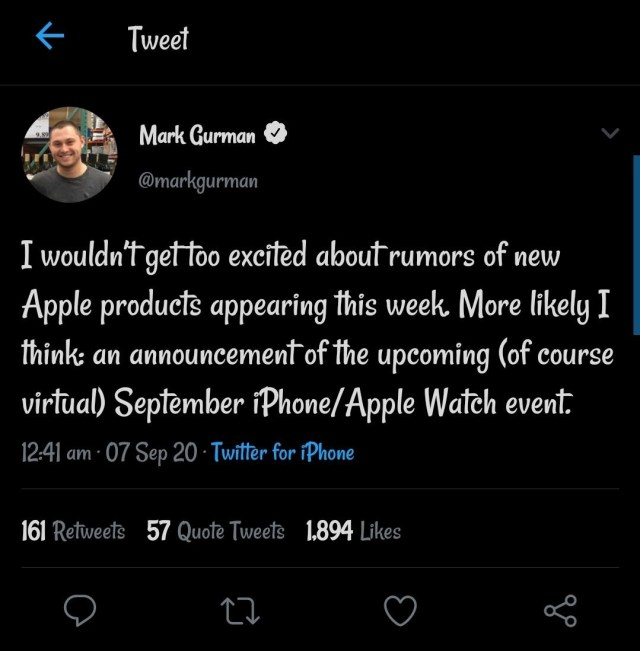 iphone 12 release date revealed by a tweet