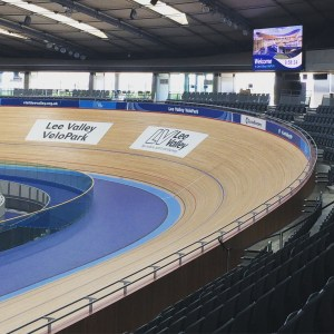 Indoor track at the VeloPark