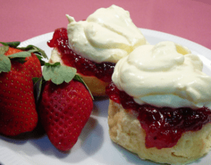 Scone, jam first