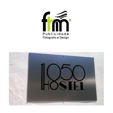Placa Hostel 1850