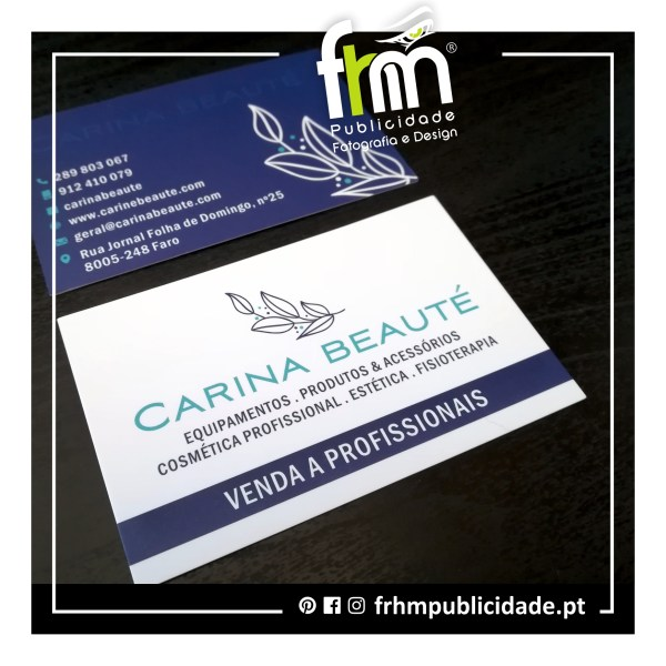 Cartões Comerciais – Carina Beauté