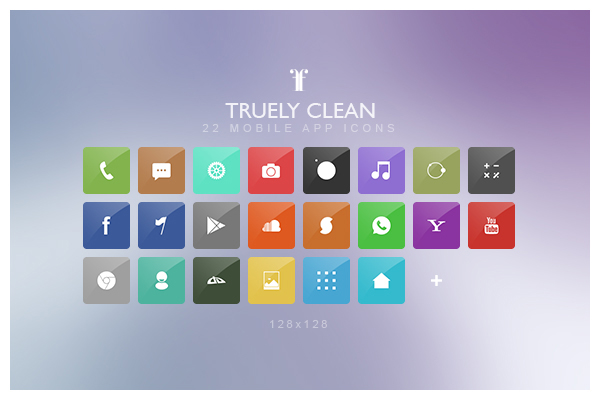 truely clean icons icons fribly