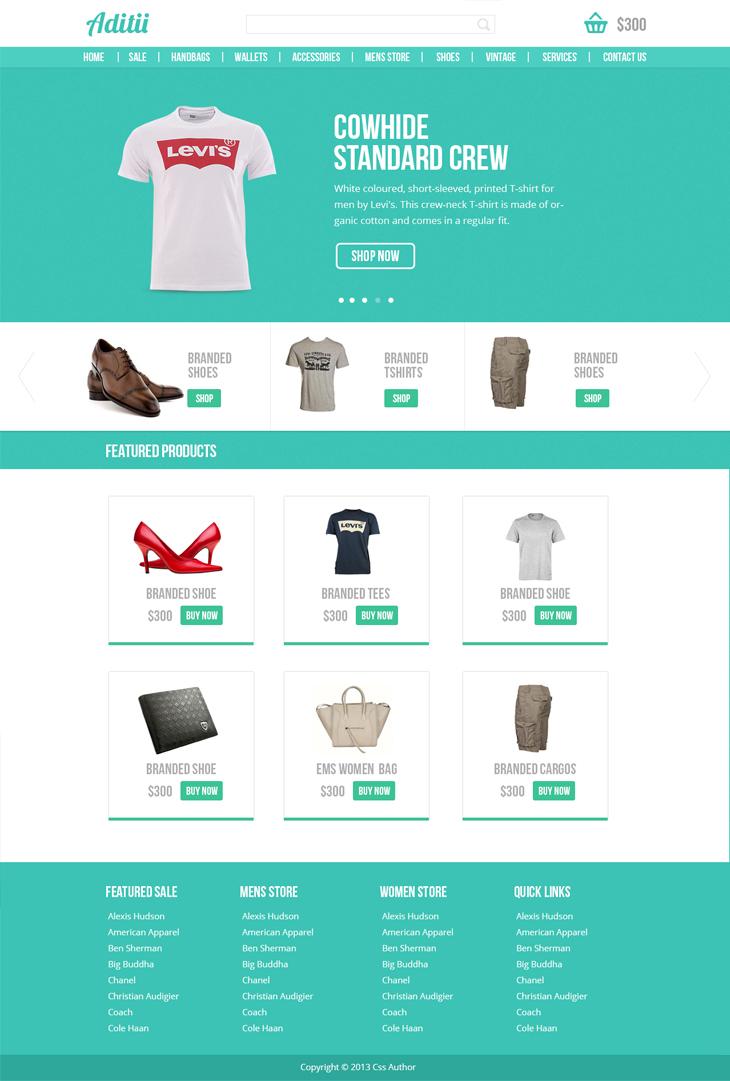 premium ecommerce website template freebies fribly. Black Bedroom Furniture Sets. Home Design Ideas