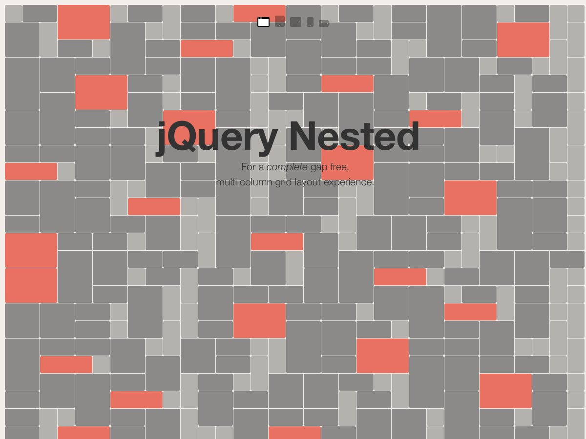 jQuery Nested - Gap Free Grid Layouts - - Fribly
