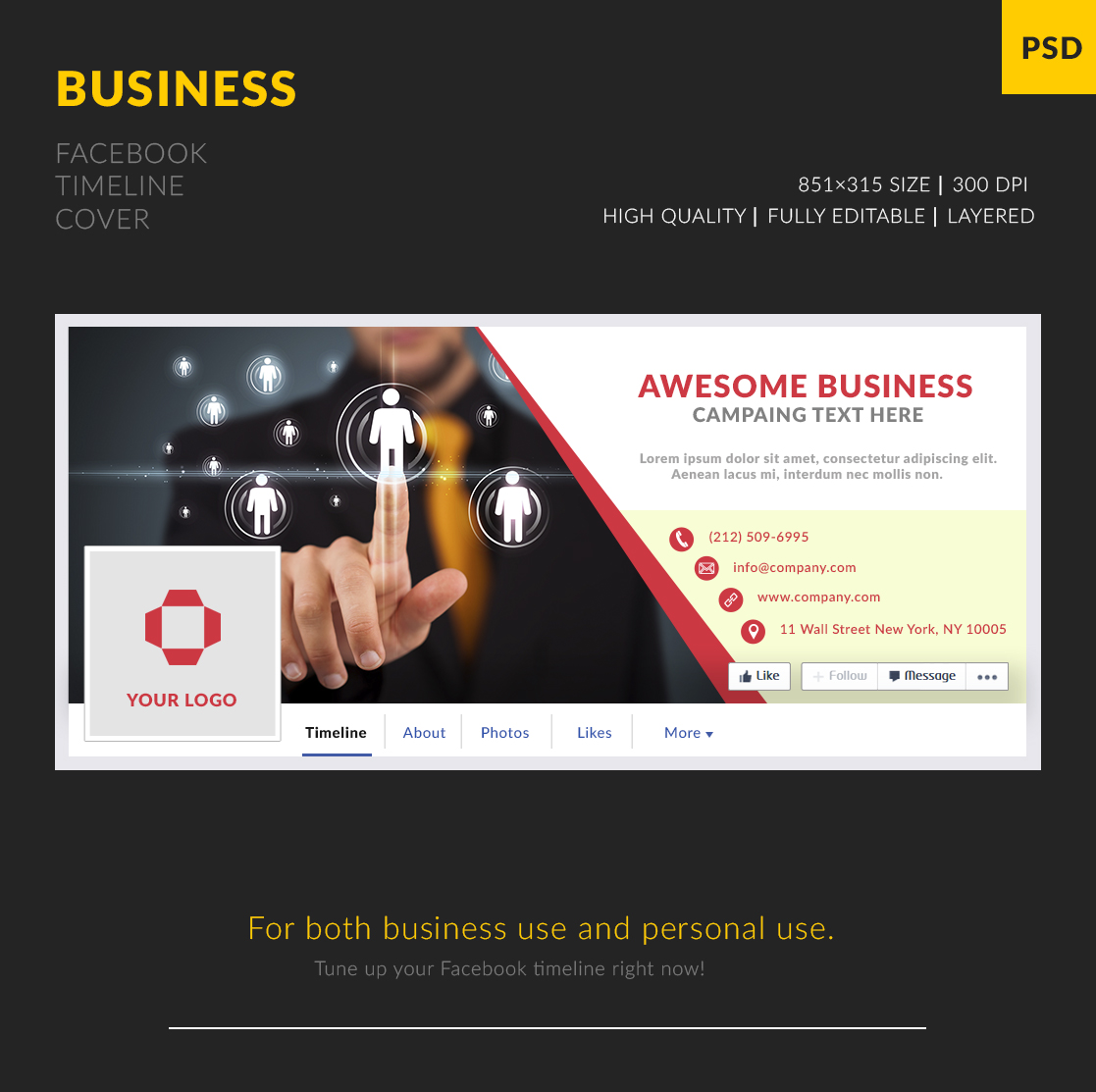 Free business facebook cover template freebies fribly october 15 2015 comments 0 views 2677 freebies pronofoot35fo Gallery