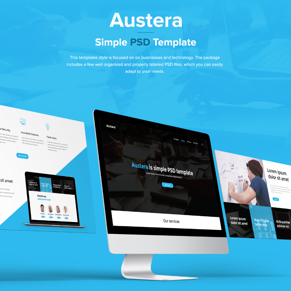 Austera Free Website Template - Freebies - Fribly