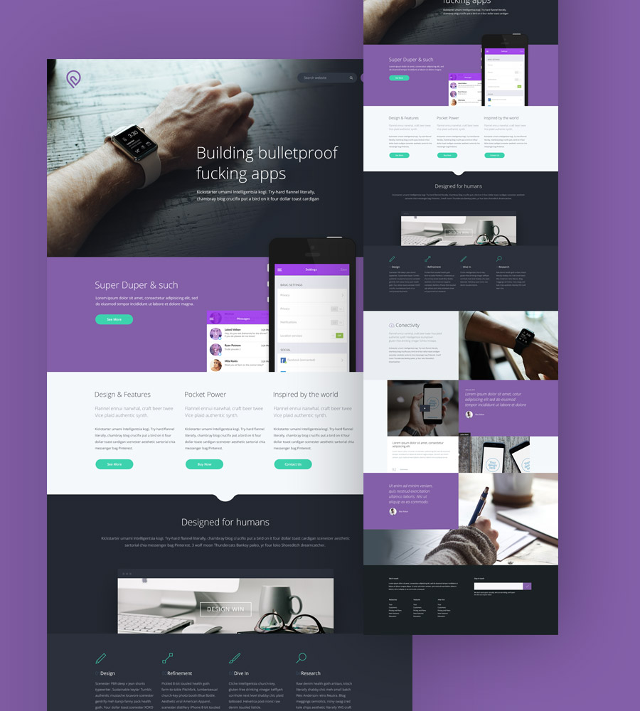 Psd For Website Of Two Side: A Free PSD Website Template