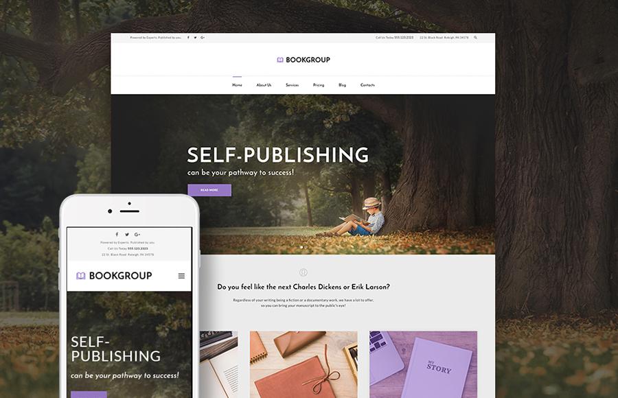 Book Publishing WordPress Theme