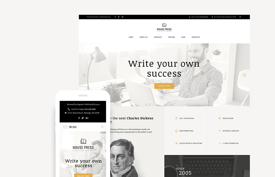 Publishing Company WordPress Theme