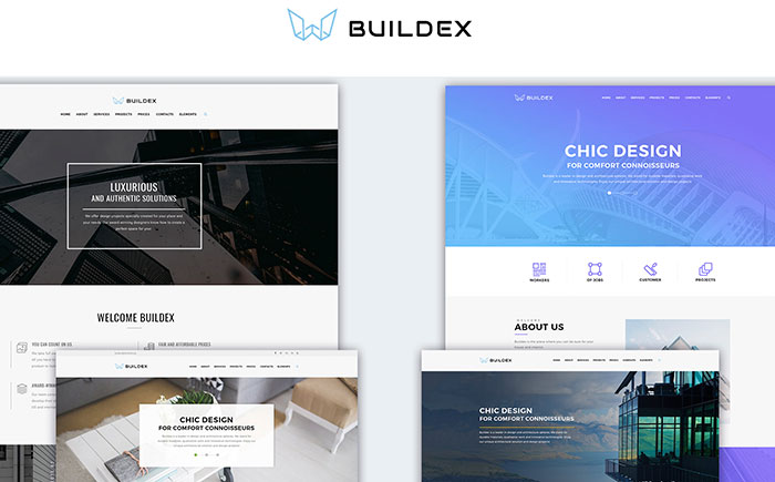 Multipage Architecture Company WordPress Theme
