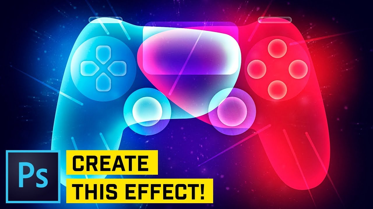 how to create glowing ps4 controller in adobe photoshop tutorials