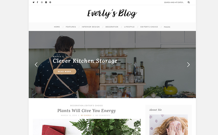 Everly - Hipster Blog WordPress Theme