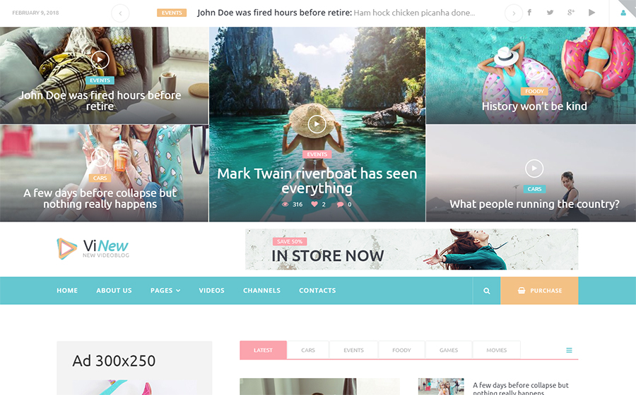 20 Video Blog WordPress Themes - Blog, Design Inspiration - Fribly