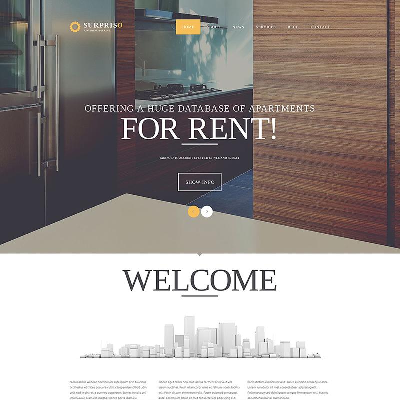 Apartment Rent Joomla Template