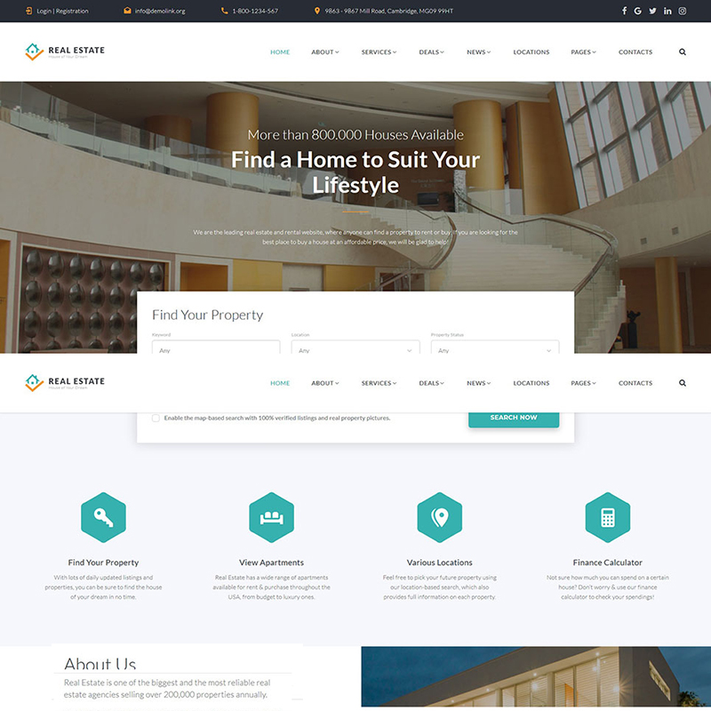 Real Estate Multipage HTML Template 58633