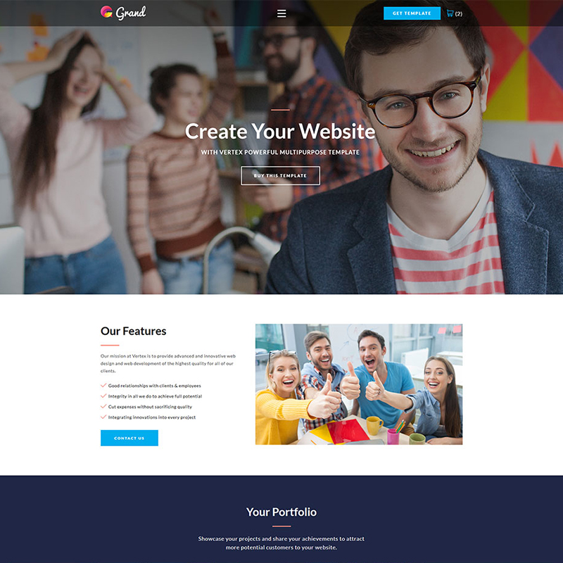 Agency Landing Page HTML5 Template