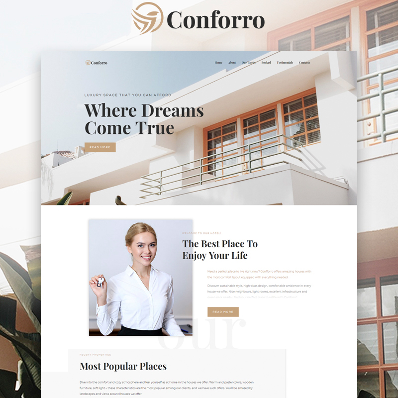 Conforro - Real Estate Elemetor WordPress Theme
