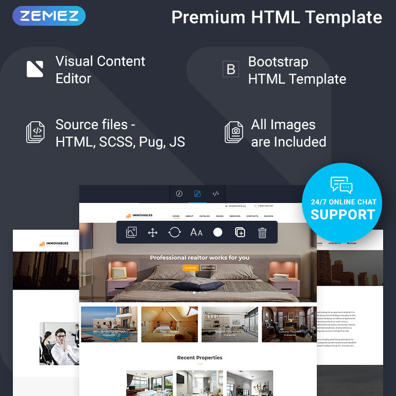 Real Estate Ready-To-Use Multipage Website Template