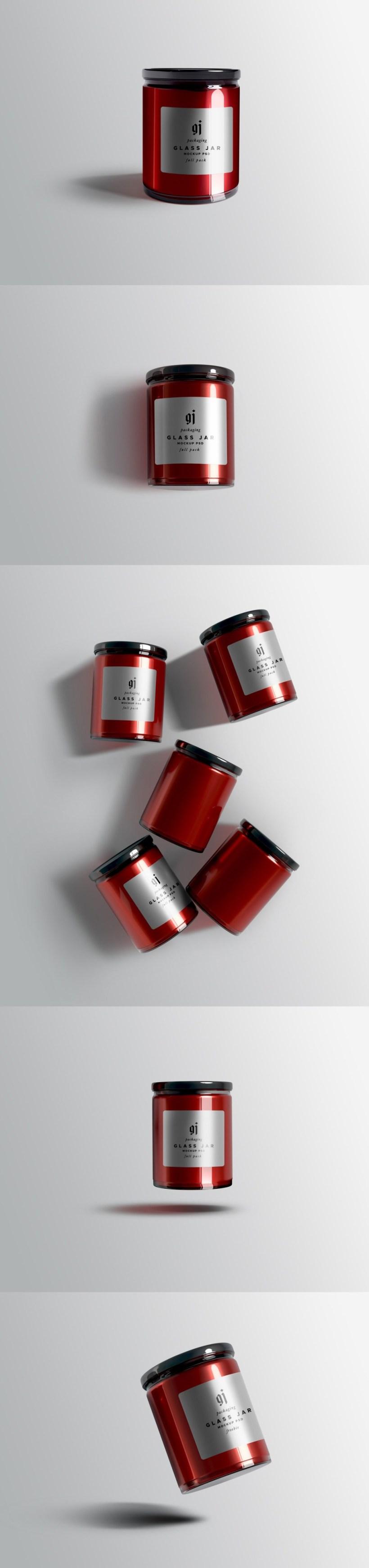 Glass Jar Mockups Set