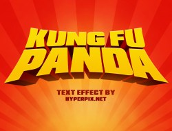 Kung Fu Panda Cartoon Text Effect