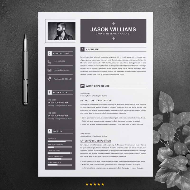CV - Marketer Resume Template