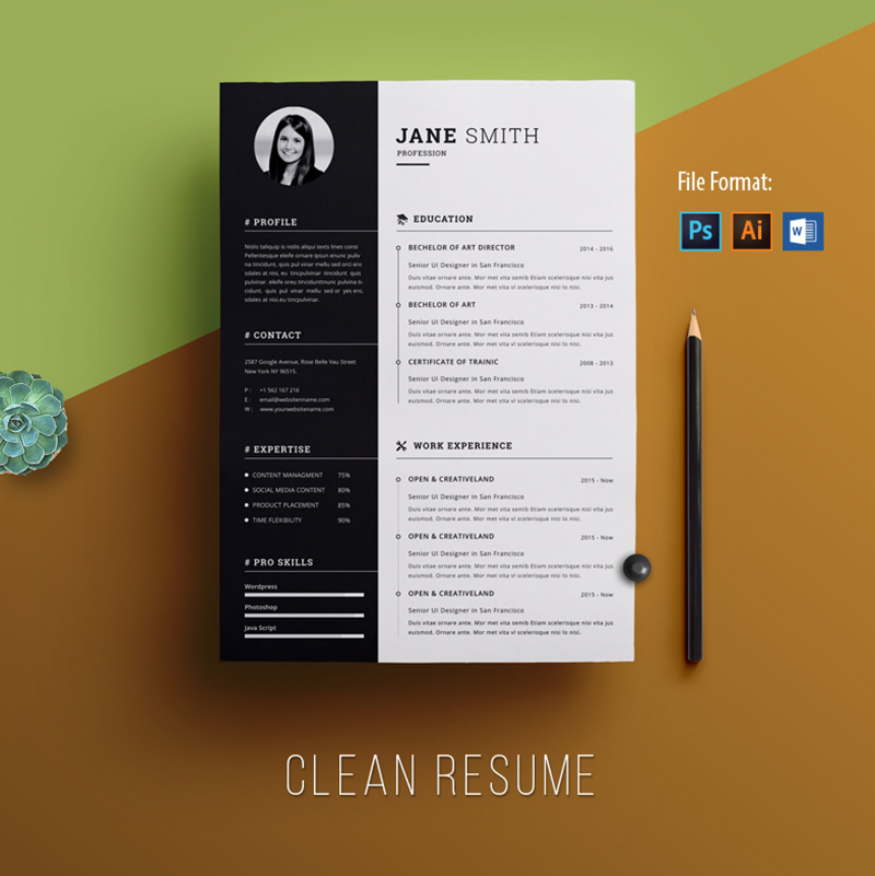 CV - Clean & Creative Jane Smith Resume Template