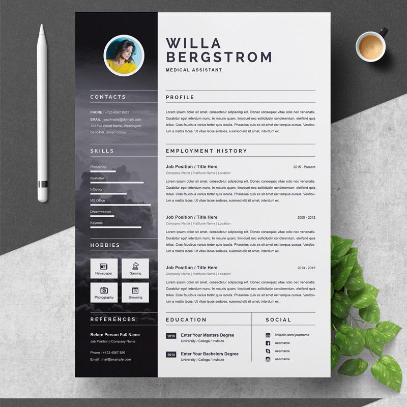 CV - Willa Resume Template