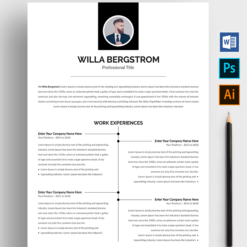 Willa Bergstrom Resume Template