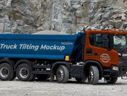 Free Truck Tilting Mockup