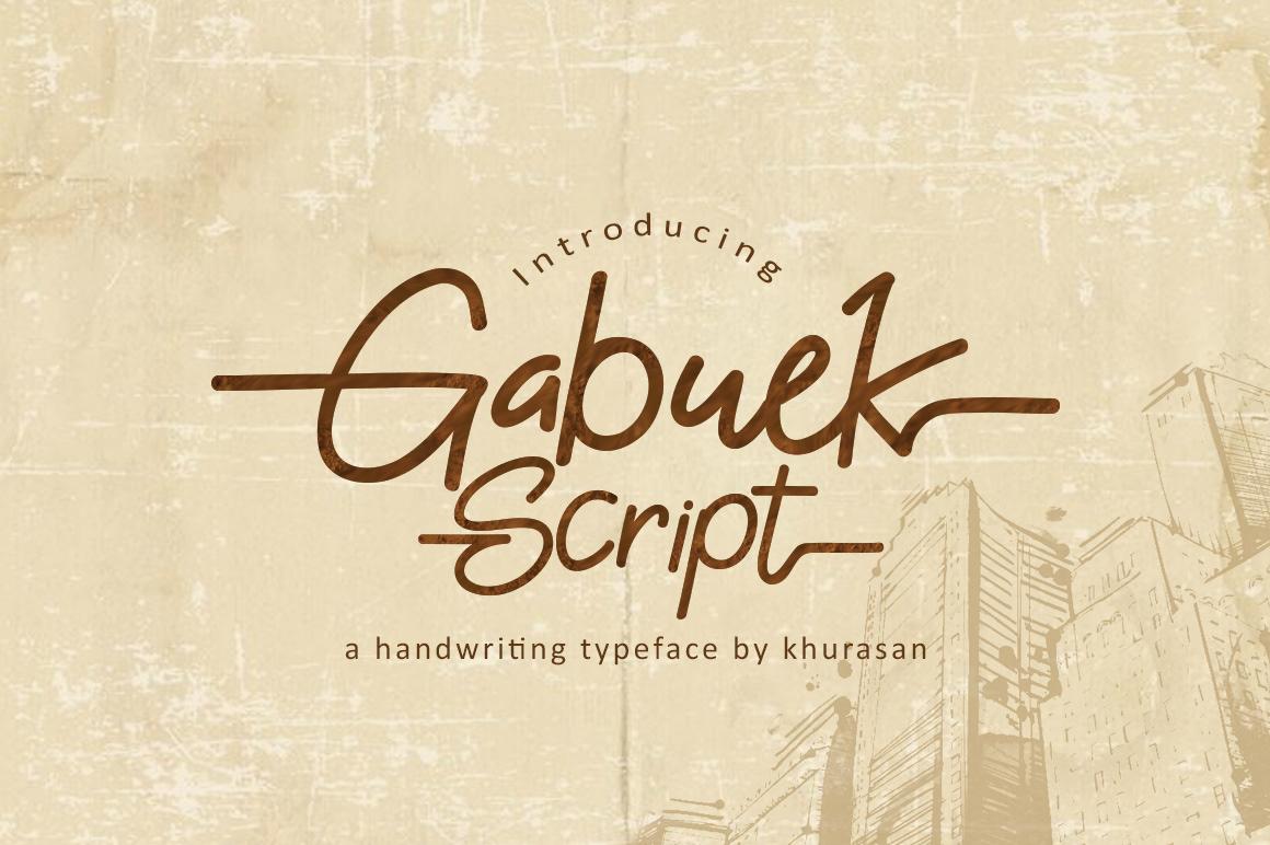 Gabuek Script Free Font
