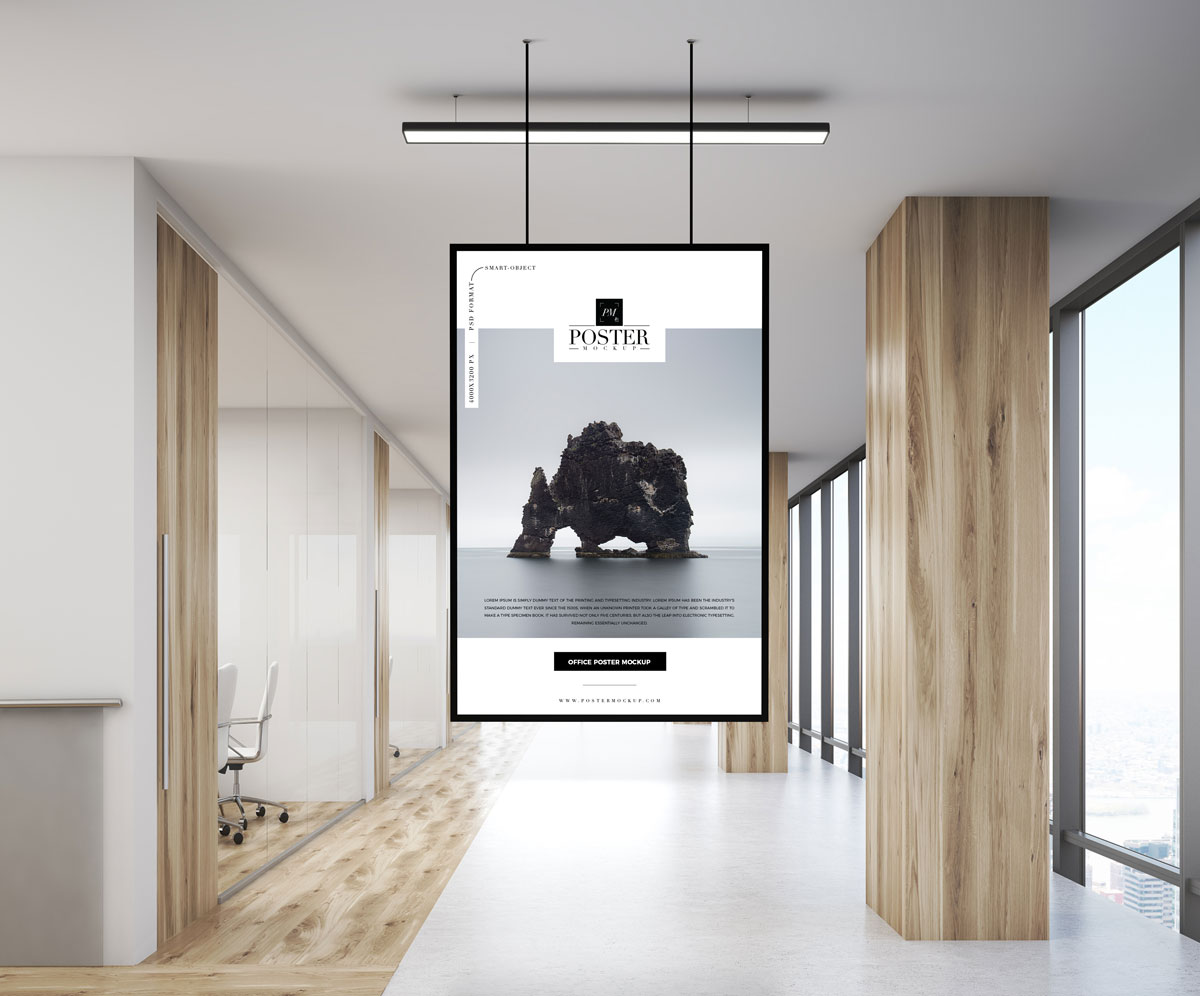 Office Indoor Poster Mockup