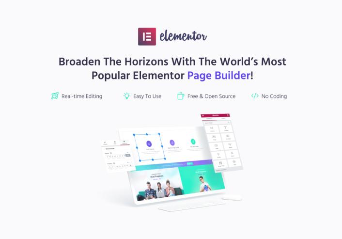 Monstroid2 WordPress theme with Elementor Builder