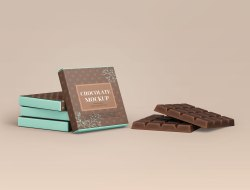 Chocolate Bar Packaging Mockup