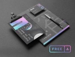 Free Black Branding Mockup