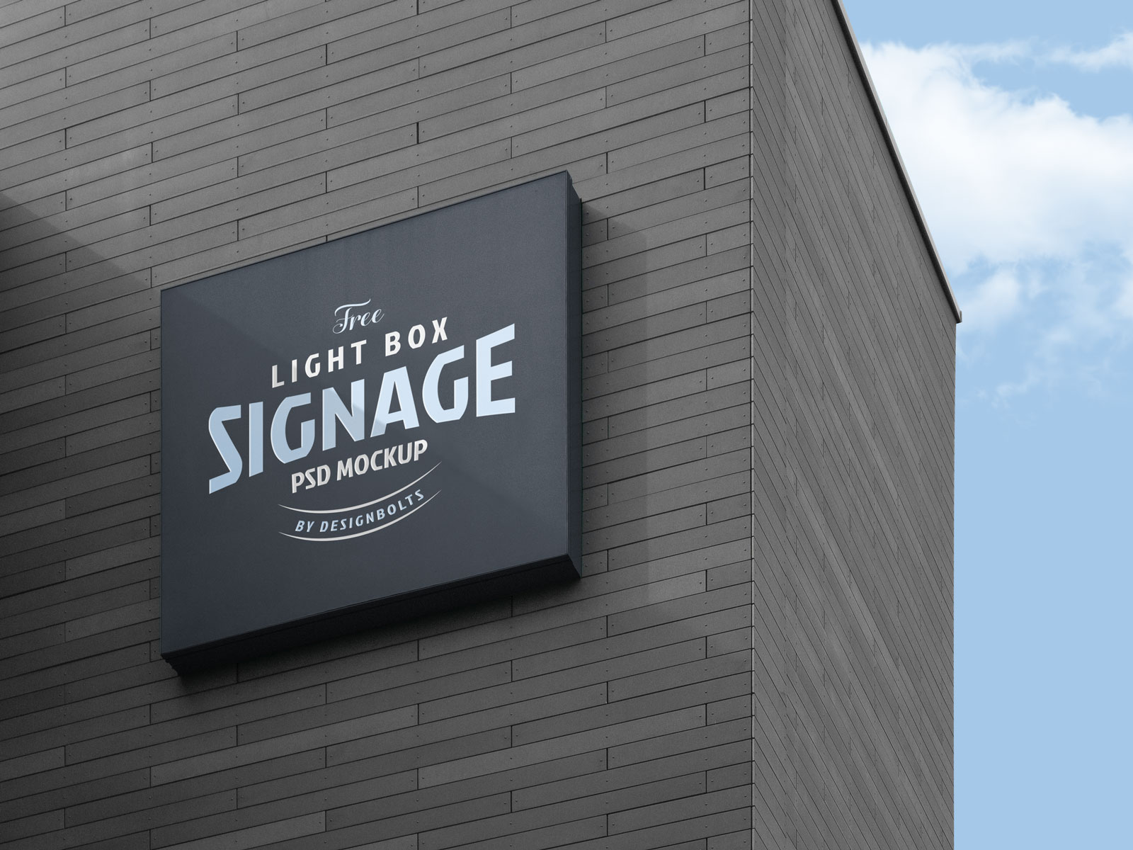 Wall Mounted Signage Mockup