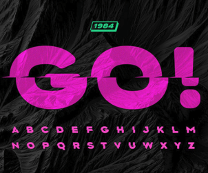 Free Shifted Display Font