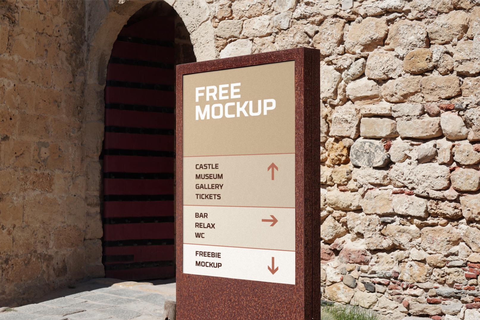 Free Wayfinding Sign Mockup