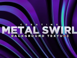 Create Abstract Metal Twirl Background