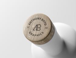 Bottle Top Logo Mockup