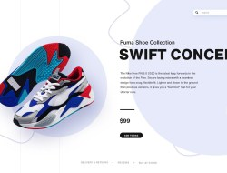 Create Shoes UI Design