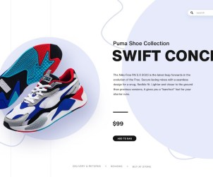 Create Shoes UI Design