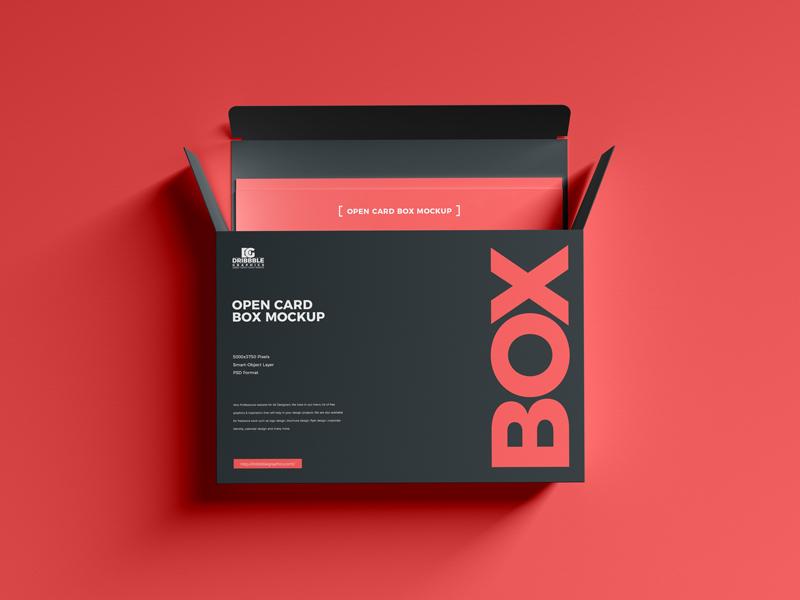 Open Card Box Mockup