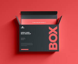 Open Card Box Mockup